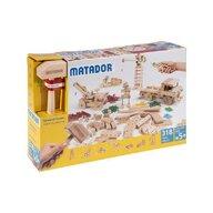 Matador - Set cuburi de constructie din lemn Explorer 318 piese, +5 ani,