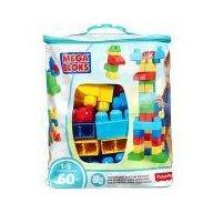 Set cuburi de construit Mega Bloks - 60 de bucati pentru baietei Fisher-Price