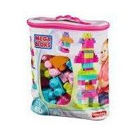 Set cuburi de construit Mega Bloks - 60 de bucati pentru fetite Fisher-Price