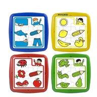 Miniland - Set de 4 puzzle educative