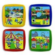 Miniland - Set de 4 puzzle Timpul liber