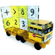 CreateOn - Set de constructie Magnetic Autobuzul scolar 16 piese Magna-Tiles