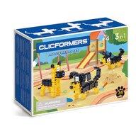 Clicstoys - Set de constructie Multifunctional Catei prietenosi , Clicformers , 74 piese