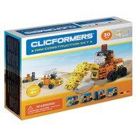 Clicstoys - Set de constructie Multifunctional Mini set cu vehicule de santier , Clicformers