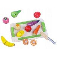 Ecotoys - Set de fructe si legume din lemn