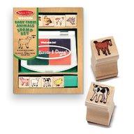 Set de stampile Pui de animale domestice Melissa and Doug
