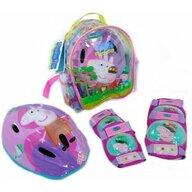 Saica - Set echipament protectie copii in ghiozdanel cu cotiere, genunchiere si casca, Peppa Pig