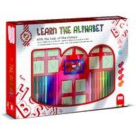 Multiprint - Set educativ cu stampile Alfabet 46 piese, 26 stampile, tus, 18 carioci si caiet cu activitati  MP1941