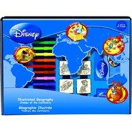 Multiprint - Set educativ cu stampile Geografia Disney 23 piese, 7 stampile, tus, 12 carioci, rigla, harta lumii si caiet cu activitati  MP1938