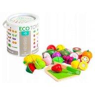 Ecotoys - Set fructe din lemn 20 buc