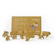 Foldo - Set jucarii din carton 3D Ferma