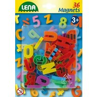 Lena - Set magnetic Litere mari 36 piese, 3 cm lungime, Multicolor