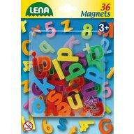 Lena - Set magnetic Litere mici 36 piese, 3 cm lungime, Multicolor
