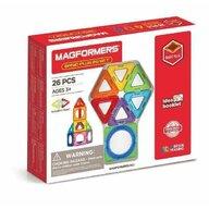 Clicstoys - Set de constructie Magnetic Basic Plus , Magformers , 26 piese