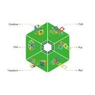 Clicstoys - Set de constructie Magnetic Uimitorul set de construit pe santier , Magformers