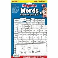 Fiesta Crafts - Set magnetic - Primele cuvinte in limba Engleza, clasa 1 si 2