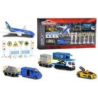 Majorette - Set Big Airport Blue Sky cu 12 piese