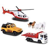 Majorette - Set  Diorama Mountain Rescue cu 2 masinute, 1 elicopter si 3 figurine
