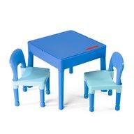Tega - Set masuta cu 2 scaune Lego Albastru
