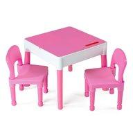 Tega - Set masuta cu 2 scaune Lego Roz