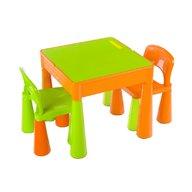 Tega - Set masuta cu 2 scaune Mamut Portocaliu, Verde
