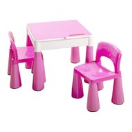 Tega - Set masuta cu 2 scaune Mamut Roz