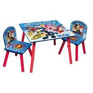 Global - Set masuta si 2 scaunele Blue Paw Patrol