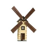 Walachia - Set Moara de vant din lemn decorativa pentru perete,