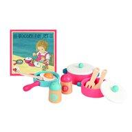 Egmont toys - Set de vase si ustensile bucatarie , Cu solnite din Lemn