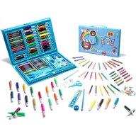 Iso Trade - Set creioane  Cu geanta inclusa, Cu accesorii pentru pictat, 86 piese, Albastru