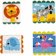 Fiesta Crafts - Set puzzle-uri din betisoare lemn - Animale salbatice