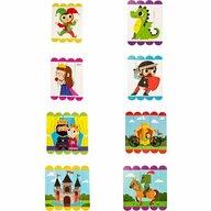 Fiesta Crafts - Set puzzle-uri din betisoare lemn - Castel