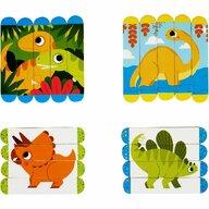 Fiesta Crafts - Set puzzle-uri din betisoare lemn - Dinozauri