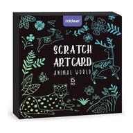 Mideer - Set creativ Scratch art Animal 15 piese