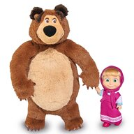 Simba - Set  Masha and The Bear papusa Masha 12 cm si ursulet de plus 25 cm