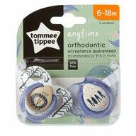 Tommee Tippee - Set suzete ortodontice Anytime, 6-18 luni, 2 buc, Leut