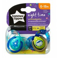 Tommee Tippee - Set suzete ortodontice de noapte, 6-18 luni, 2 buc, Astronaut Baietel