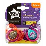 Tommee Tippee - Set suzete ortodontice de noapte, 6-18 luni, 2 buc, Astronaut Fetita
