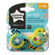 Tommee Tippee - Set suzete ortodontice de zi Fun, 6-18 Luni, 2 buc, Elefant/Pasare