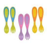 True - Set tacamuri lingura si furculita, diverse culori