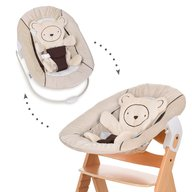 Hauck - Sezlong Alpha Bouncer 2 in 1 Hearts, Beige