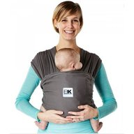 Baby K'tan - Sistem purtare Baby Carrier Breeze, Charcoal, Marimea S