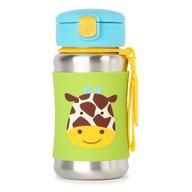 Skip Hop - Sticla cu pai din otel inoxidabil Zoo, Giraffe