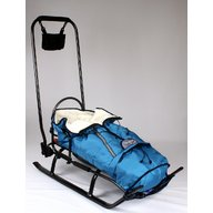Skyline - Sanie Salto + scaulet material polar, Albastru