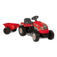 Smoby Tractor cu pedale si remorca 33045 rosu