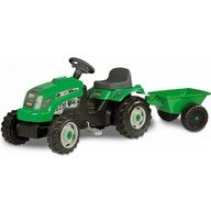 Smoby Tractor cu pedale si remorca 33329 verde