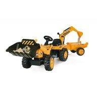 Smoby Tractor cu pedale si remorca 33385 galben