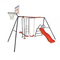 MVS - Spatiu de joaca pentru copii Atlas  cu leagan tobogan balansoar scara si cos de baschet