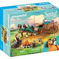 Playmobil - Spirit - Tatal lui Lucky si trasura