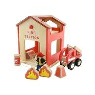 Masterkidz - Statie de pompieri de jucarie, din lemn, +3 ani, , pentru gradinite